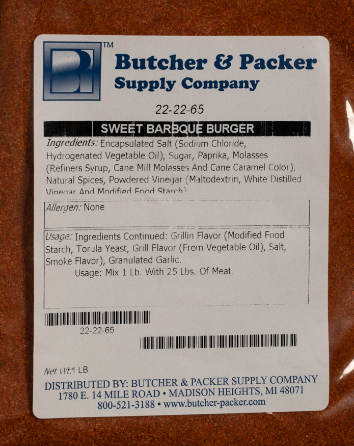 Sweet Barbque Burger Seasoning